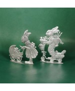 Special Set - Wilhelm Schweizer Unpainted Pewter - Mama & Papa Bunny