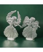 Special Set - Wilhelm Schweizer Unpainted Pewter - Violin Angels