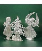 Special Set - Wilhelm Schweizer Unpainted Pewter - Christmas Angels