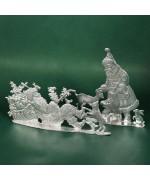 Special Set - Wilhelm Schweizer Unpainted Pewter - Woodland Santa Set