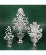 Special Set - Wilhelm Schweizer Unpainted Pewter - Flower Vase Trio