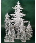 Special Set - Wilhelm Schweizer Unpainted Pewter - Pine Tree Set - 6 Piece