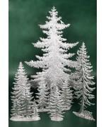 Special Set - Wilhelm Schweizer Unpainted Pewter - Pine Tree Set - 5 Piece