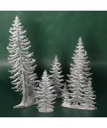 Special Set - Wilhelm Schweizer Unpainted Pewter - Pine Tree Set - 4 Piece