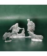 Special Set - Wilhelm Schweizer Unpainted Pewter - Nativity - 3 Piece