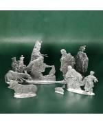 Special Set - Wilhelm Schweizer Unpainted Pewter - Nativity - 8 Piece