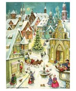 Old German Paper Advent Calendar - TEMPORARILY OUT OF STOCK