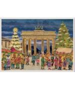 NEW - Old German Paper Advent Calendar - Berlin