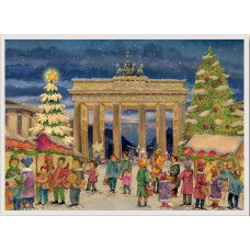 NEW - Old German Paper Advent Calendar - Berlin