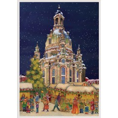 NEW - Old German Paper Advent Calendar - Dresden