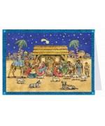 NEW - Weihnachtskarte Advent Calendar Card