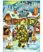 NEW - Old German Paper Advent Calendar
