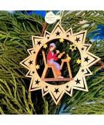 ** NEW **A Wooden Christmas Sleigh Ornament - Carpenter