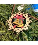 ** NEW **A Wooden Christmas Sleigh Ornament - Christmas Bells