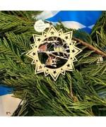 ** NEW **A Wooden Christmas Sleigh Ornament - Christmas Birds