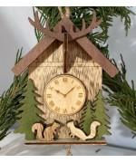 ** NEW **A Wooden Squirrel Clock
