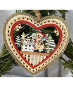 ** NEW **A Wooden Snowman Heart