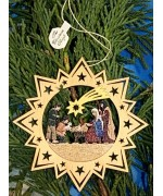 A Wooden Christmas Sleigh Ornament - Nativity - TEMPORARILY OUT OF STOCK