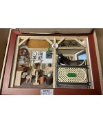 German wooden 3D-picture box-Diorama Horse Stall