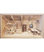 NEW - German Wooden 3D Picture Box Farm Kitchen Natural Finish