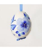 NEW - Christmas Easter Salzburg Hand Painted Easter Egg - Blue Flowers