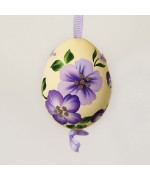 NEW - Christmas Easter Salzburg Hand Painted Easter Egg - Purple Flowers