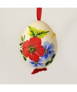 NEW - Christmas Easter Salzburg Hand Painted Easter Egg - Colorful Flowers