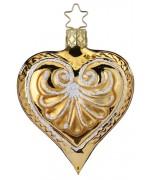 NEW - Inge Glas Gold Heart Glass Ornament