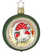 NEW - Inge Glas Forest Mushroom Glass Ornament