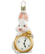 NEW - Inge Glas White Rabbit Glass Ornament