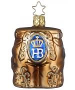 NEW - Inge Glas Hofbrauhaus Lederhosen Glass Ornament