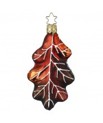 NEW - Inge Glas Oak Leaf Glass Ornament