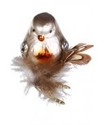 NEW - Inge Glas Brownie Bird Glass Ornament