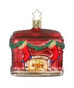 NEW - Inge Glas Christmas Fireplace Glass Ornament
