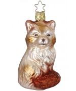 NEW - Inge Glas Winter Fox Glass Ornament