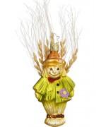 NEW - Inge Glas Scarecrow Glass Ornament
