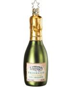NEW - Inge Glas Prosecco Wine Bottle Glass Ornament