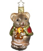 NEW - Inge Glas Christmas Mouse Glass Ornament