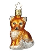 NEW - Inge Glas Fox Pup Glass Ornament