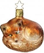 NEW - Inge Glas Night Fox Glass Ornament