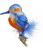 NEW - Inge Glas Ice Bird Glass Ornament