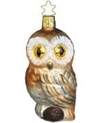 NEW - Inge Glas Night Eyes Owl Glass Ornament
