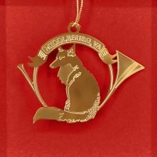 Fox in Hunting Horn Middleburg VA Ornament Beacon Design