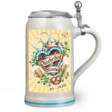 NEW - The Official Munich Oktoberfest Beer Stein 2021 - 1 Liter with Lid