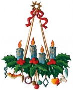 NEW - Candle Wreath Ornament Christmas Pewter Wilhelm Schweizer