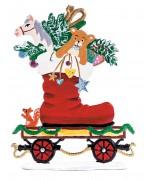 NEW - Train Car with Santa Boot 2020 Christmas Pewter Wilhelm Schweizer