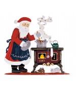 NEW - Santa at Stove 2020 Christmas Pewter Wilhelm Schweizer