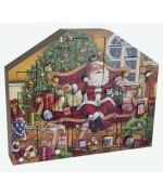 NEW - Byers Choice Advent Calendar Santa's Throne