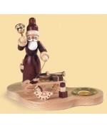 Candleholder Santa with Sledge