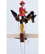TEMPORARILY OUT OF STOCK - Wolfgang Werner Toy Pendelreiterin Frau Rot